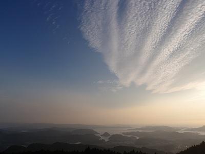 隠居岳ウォーカーズパークキャンプ場展望台から見える景色